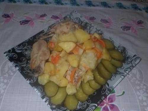 Куриное филе, запеченное с картошкой в рукаве