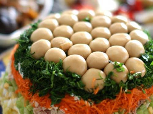 рецепт салата грибная лесная поляна