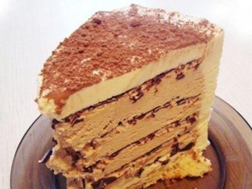 торт кофе с шоколадом без духовки пошаговый рецепт